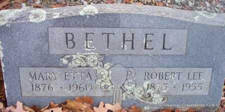 BETHEL, MARY ETTA - Scott County, Arkansas | MARY ETTA BETHEL - Arkansas Gravestone Photos