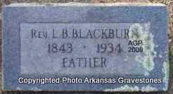 BLACKBURN  (VETERAN CSA), REV L B - Scott County, Arkansas | REV L B BLACKBURN  (VETERAN CSA) - Arkansas Gravestone Photos