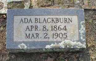 BLACKBURN, ADA - Scott County, Arkansas   ADA BLACKBURN - Arkansas Gravestone Photos