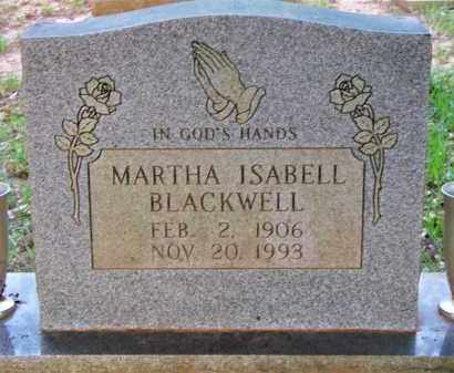 BLACKWELL, MARTHA ISABELL - Scott County, Arkansas | MARTHA ISABELL BLACKWELL - Arkansas Gravestone Photos