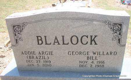BLALOCK, ADDIE ARGIE - Scott County, Arkansas | ADDIE ARGIE BLALOCK - Arkansas Gravestone Photos