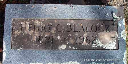 BLALOCK, HENRY C - Scott County, Arkansas | HENRY C BLALOCK - Arkansas Gravestone Photos