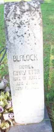 BLALOCK, MARY ETTA - Scott County, Arkansas | MARY ETTA BLALOCK - Arkansas Gravestone Photos