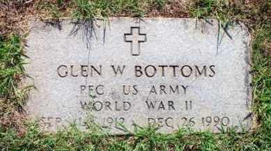 BOTTOMS  (VETERAN WWII), GLEN W - Scott County, Arkansas | GLEN W BOTTOMS  (VETERAN WWII) - Arkansas Gravestone Photos