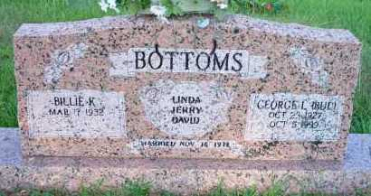 "BOTTOMS, GEORGE L   ""BUD"" - Scott County, Arkansas   GEORGE L   ""BUD"" BOTTOMS - Arkansas Gravestone Photos"