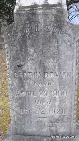 BOWEN, BERTHA - Scott County, Arkansas   BERTHA BOWEN - Arkansas Gravestone Photos