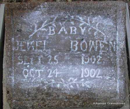 BOWEN, BABY JEWEL - Scott County, Arkansas | BABY JEWEL BOWEN - Arkansas Gravestone Photos