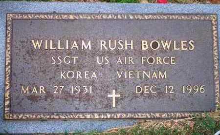 BOWLES  (VETERAN 2 WARS), WILLIAM RUSH - Scott County, Arkansas | WILLIAM RUSH BOWLES  (VETERAN 2 WARS) - Arkansas Gravestone Photos