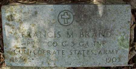 BRAND  (VETERAN CSA), FRANCIS M - Scott County, Arkansas | FRANCIS M BRAND  (VETERAN CSA) - Arkansas Gravestone Photos