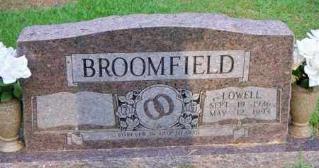 BROOMFIELD, LOWELL - Scott County, Arkansas   LOWELL BROOMFIELD - Arkansas Gravestone Photos