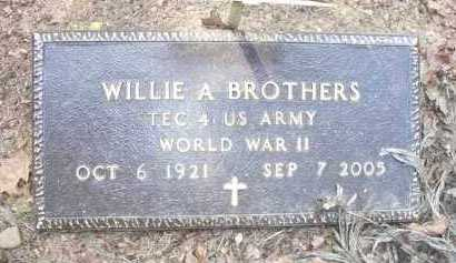 BROTHERS  (VETERAN WWII), WILLIE - Scott County, Arkansas | WILLIE BROTHERS  (VETERAN WWII) - Arkansas Gravestone Photos