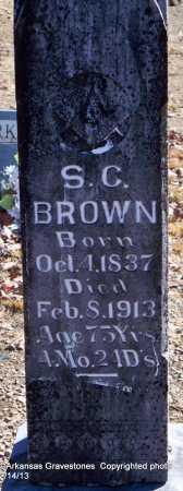 BROWN, S  C - Scott County, Arkansas   S  C BROWN - Arkansas Gravestone Photos