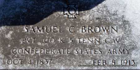 BROWN  (VETERAN CSA), SAMUEL C - Scott County, Arkansas | SAMUEL C BROWN  (VETERAN CSA) - Arkansas Gravestone Photos