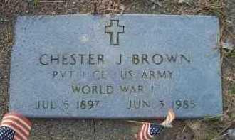 BROWN  (VETERAN WWI), CHESTER J - Scott County, Arkansas   CHESTER J BROWN  (VETERAN WWI) - Arkansas Gravestone Photos
