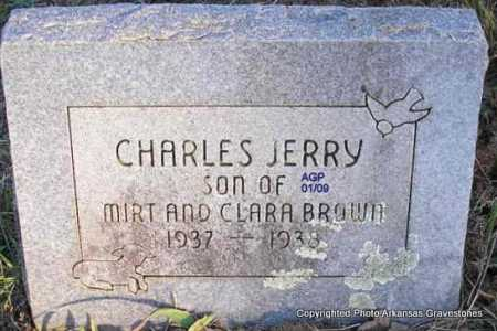 BROWN, CHARLES JERRY - Scott County, Arkansas | CHARLES JERRY BROWN - Arkansas Gravestone Photos