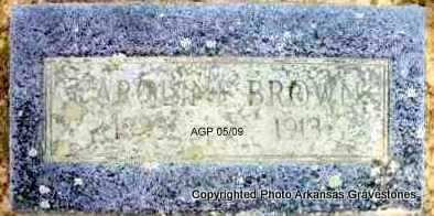 BROWN, CAROLINE  (2ND STONE) - Scott County, Arkansas | CAROLINE  (2ND STONE) BROWN - Arkansas Gravestone Photos