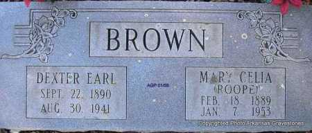 BROWN, DEXTER EARL - Scott County, Arkansas | DEXTER EARL BROWN - Arkansas Gravestone Photos