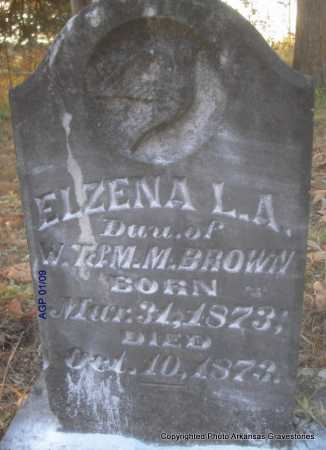 BROWN, ELZENA L  A - Scott County, Arkansas | ELZENA L  A BROWN - Arkansas Gravestone Photos