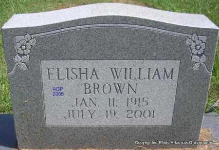 BROWN, ELISHA WILLIAM - Scott County, Arkansas | ELISHA WILLIAM BROWN - Arkansas Gravestone Photos