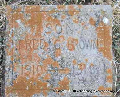 BROWN, FRED C - Scott County, Arkansas | FRED C BROWN - Arkansas Gravestone Photos