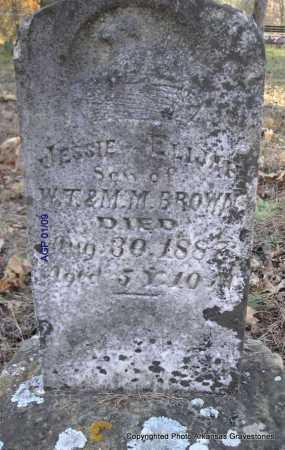 BROWN, JESSIE ELIJAH - Scott County, Arkansas | JESSIE ELIJAH BROWN - Arkansas Gravestone Photos