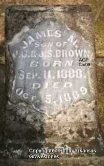 BROWN, JAMES M - Scott County, Arkansas | JAMES M BROWN - Arkansas Gravestone Photos