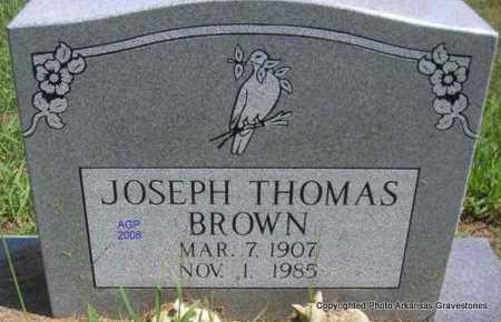 BROWN, JOSEPH THOMAS - Scott County, Arkansas   JOSEPH THOMAS BROWN - Arkansas Gravestone Photos
