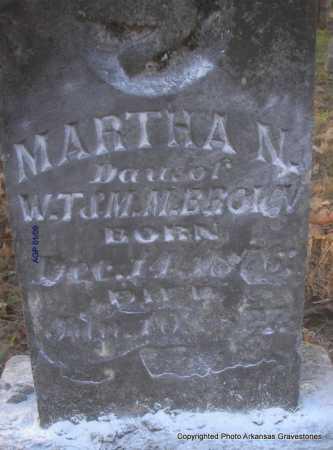 BROWN, MARTHA N - Scott County, Arkansas | MARTHA N BROWN - Arkansas Gravestone Photos