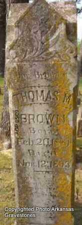 BROWN, THOMAS M - Scott County, Arkansas   THOMAS M BROWN - Arkansas Gravestone Photos