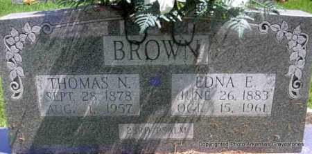 BROWN, THOMAS N - Scott County, Arkansas   THOMAS N BROWN - Arkansas Gravestone Photos