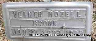 BROWN, VELMER MOZELL - Scott County, Arkansas | VELMER MOZELL BROWN - Arkansas Gravestone Photos