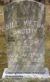 BRUTON, BILL MILTON - Scott County, Arkansas   BILL MILTON BRUTON - Arkansas Gravestone Photos