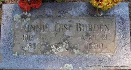 BURDEN, MINNIE - Scott County, Arkansas | MINNIE BURDEN - Arkansas Gravestone Photos