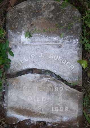 BURGER, PHILLIP J - Scott County, Arkansas   PHILLIP J BURGER - Arkansas Gravestone Photos