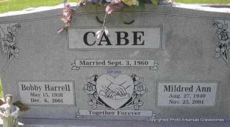 CABE, BOBBY HARRELL - Scott County, Arkansas   BOBBY HARRELL CABE - Arkansas Gravestone Photos