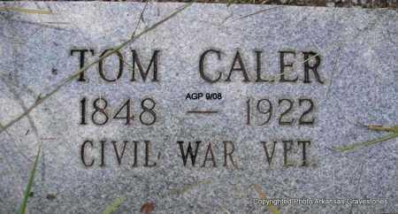 CALER (VETERAN CSA), TOM - Scott County, Arkansas | TOM CALER (VETERAN CSA) - Arkansas Gravestone Photos