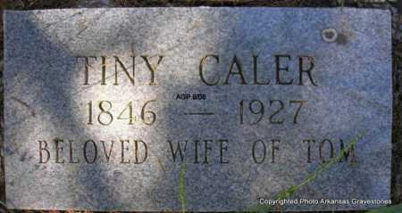 CALER, TINY - Scott County, Arkansas | TINY CALER - Arkansas Gravestone Photos