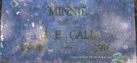 CALL, MINNIE - Scott County, Arkansas   MINNIE CALL - Arkansas Gravestone Photos