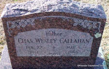 CALLAHAN, CHAS  WESLEY - Scott County, Arkansas | CHAS  WESLEY CALLAHAN - Arkansas Gravestone Photos