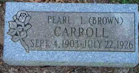 BROWN CARROLL, PEARL I - Scott County, Arkansas | PEARL I BROWN CARROLL - Arkansas Gravestone Photos