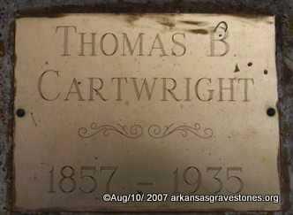 CARTWRIGHT, THOMAS B - Scott County, Arkansas | THOMAS B CARTWRIGHT - Arkansas Gravestone Photos
