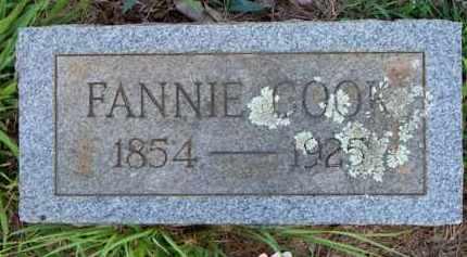 COOK, FANNIE - Scott County, Arkansas | FANNIE COOK - Arkansas Gravestone Photos