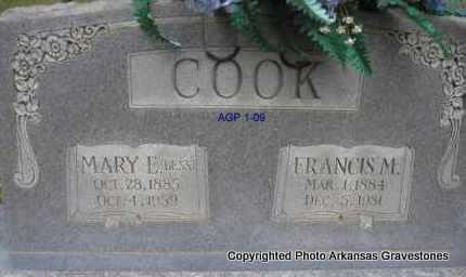 COOK, MARY E  (BESS) - Scott County, Arkansas | MARY E  (BESS) COOK - Arkansas Gravestone Photos