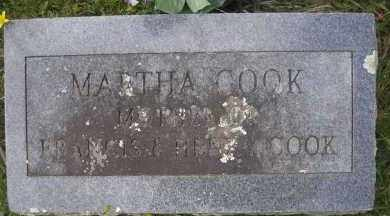 COOK, MARTHA - Scott County, Arkansas | MARTHA COOK - Arkansas Gravestone Photos