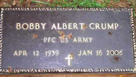 CRUMP  (VETERAN), BOBBY ALBERT - Scott County, Arkansas | BOBBY ALBERT CRUMP  (VETERAN) - Arkansas Gravestone Photos