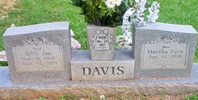 DAVIS  (2ND STONE), BILLY JOE - Scott County, Arkansas   BILLY JOE DAVIS  (2ND STONE) - Arkansas Gravestone Photos