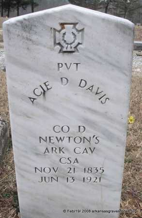 DAVIS  (VETERAN CSA), ACIE D - Scott County, Arkansas | ACIE D DAVIS  (VETERAN CSA) - Arkansas Gravestone Photos