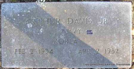 DAVIS   (VETERAN KOR), ARTHUR, JR - Scott County, Arkansas   ARTHUR, JR DAVIS   (VETERAN KOR) - Arkansas Gravestone Photos