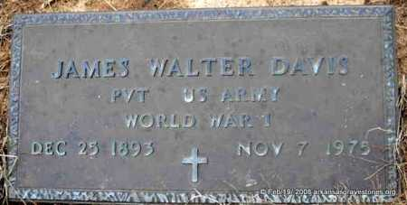 DAVIS  (VETERAN WWI), JAMES WALTER - Scott County, Arkansas | JAMES WALTER DAVIS  (VETERAN WWI) - Arkansas Gravestone Photos