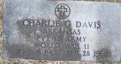 DAVIS  (VETERAN WWII), CHARLIE G - Scott County, Arkansas   CHARLIE G DAVIS  (VETERAN WWII) - Arkansas Gravestone Photos